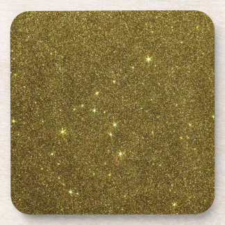 Image of gold Glitter Drink Coaster