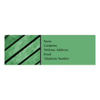 Image of Green Planks of Wood Mini Business Card