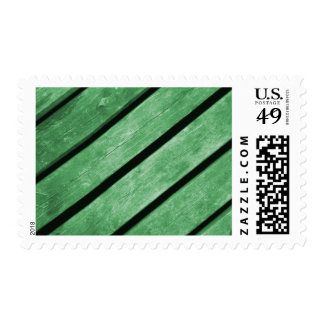 Image of Green Planks of Wood Postage Stamp