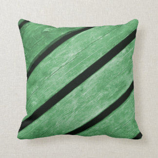 Image of Green Planks of Wood Throw Pillow