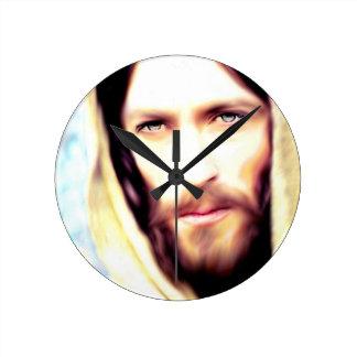 Image Of Jesus Round Clock