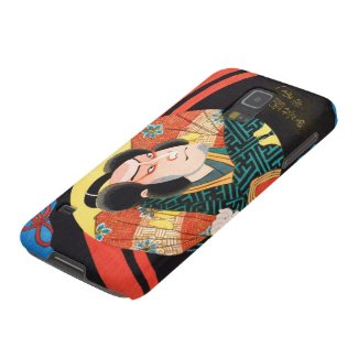 Image of kabuki actor on folding fan Utagawa ukiyo Case For Galaxy S5