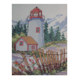 image of lighthouse and house custom flyer