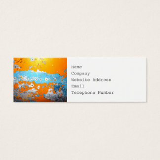 Image of Metal and Chipped Paint Mini Business Card