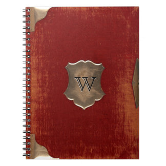 Image of Old Journal Cover, Monogrammed