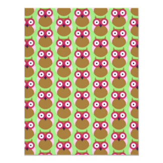 image of owls 4.25x5.5 paper invitation card