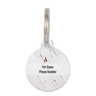 Image of Planks of Wood with Chipped Paint. Pet Name Tag