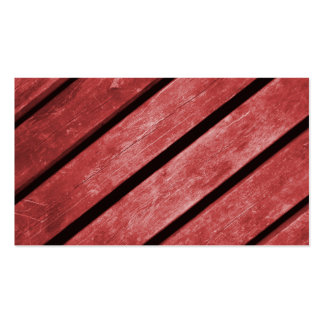 Image of Red Planks of Wood Business Card