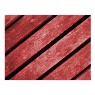 Image of Red Planks of Wood Postcard