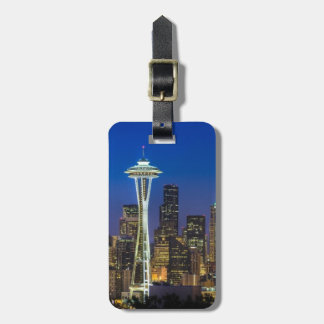 Image of Seattle Skyline in morning hours. Bag Tag