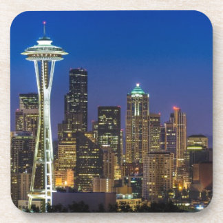 Image of Seattle Skyline in morning hours. Coaster