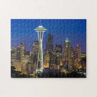 Image of Seattle Skyline in morning hours. Puzzles