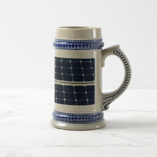 Image of solar power panel funny beer stein