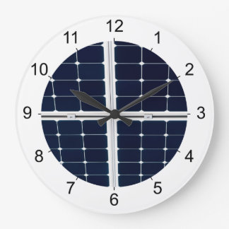 Image of solar power panel funny large clock