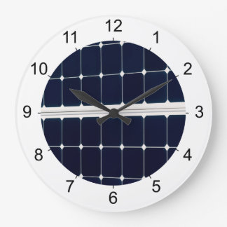 Image of solar power panel large clock