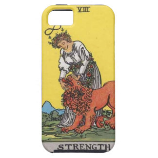 image of tarot strenght card iPhone SE/5/5s case