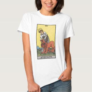 image of tarot strenght card tee shirt