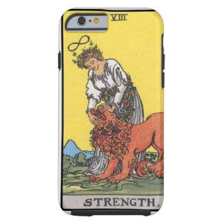 image of tarot strenght card tough iPhone 6 case