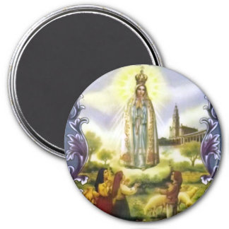 Image of the apparition Our Lady of Fatima 3 Inch Round Magnet