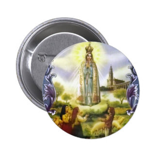 Image of the apparition Our Lady of Fatima Button
