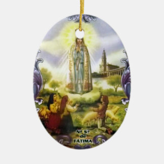 image of the apparition Our Lady of Fatima Ceramic Ornament