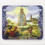 Image of the apparition Our Lady of Fatima Mousepads