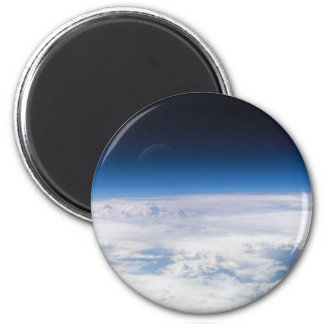 Image of the Exosphere of the Earth's Atmosphere 2 Inch Round Magnet