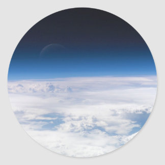 Image of the Exosphere of the Earth's Atmosphere Classic Round Sticker
