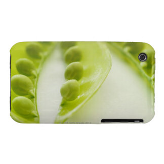 Image of three open pea pods, extreme close-up iPhone 3 Case-Mate case
