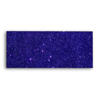 Image of trendy blue glitter envelope