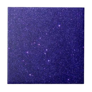 Image of trendy blue glitter ceramic tiles