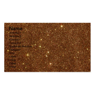 Image of trendy copper Glitter Business Cards