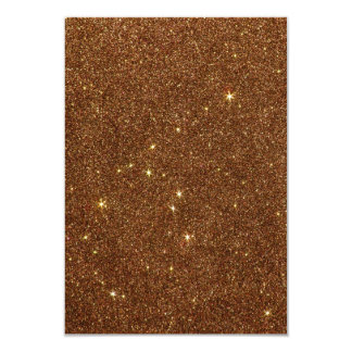Image of trendy copper Glitter Invitations