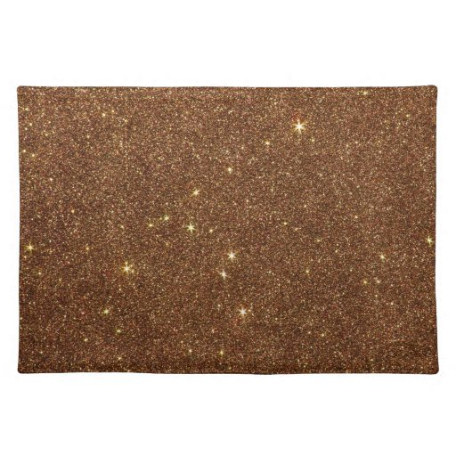Image Of Trendy Copper Glitter Placemat Zazzle