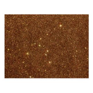 Image of trendy copper Glitter Postcard