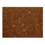 Image of trendy copper Glitter Postcards