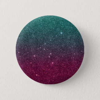 Image of trendy pink and turquoise glitter button