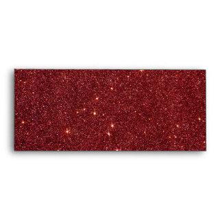 Image of trendy red glitter envelopes