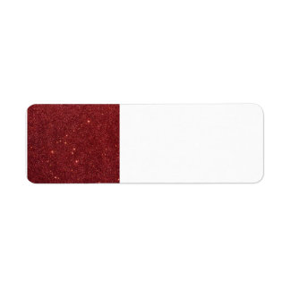 Image of trendy red glitter label