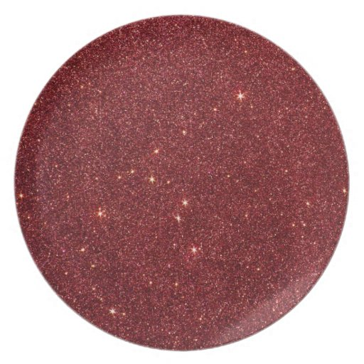 Image of trendy red glitter party plate