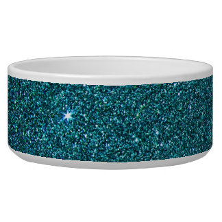 Image of trendy teal glitter bowl