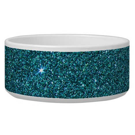Image of trendy teal glitter bowl
