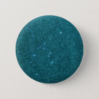 Image of trendy teal glitter button