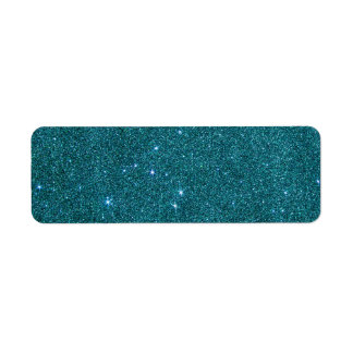 Image of trendy teal glitter label