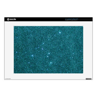 Image of trendy teal glitter skins for laptops