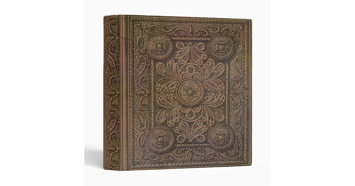 Decorative Book Cover Paper ~ Image of vintage decorative book cover binder zazzle
