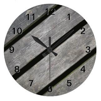 Image of Weathered Planks of Wood Clocks