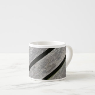 Image of Weathered Planks of Wood Espresso Cup