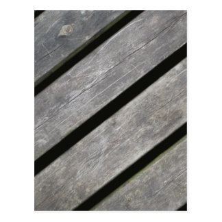 Image of Weathered Planks of Wood Postcard
