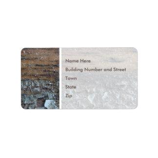 Image of Woodgrain and Varnish. Label